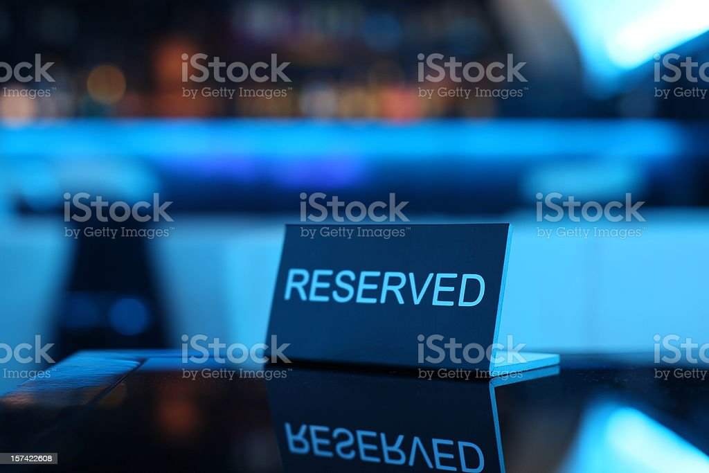 Reserved card stock photo