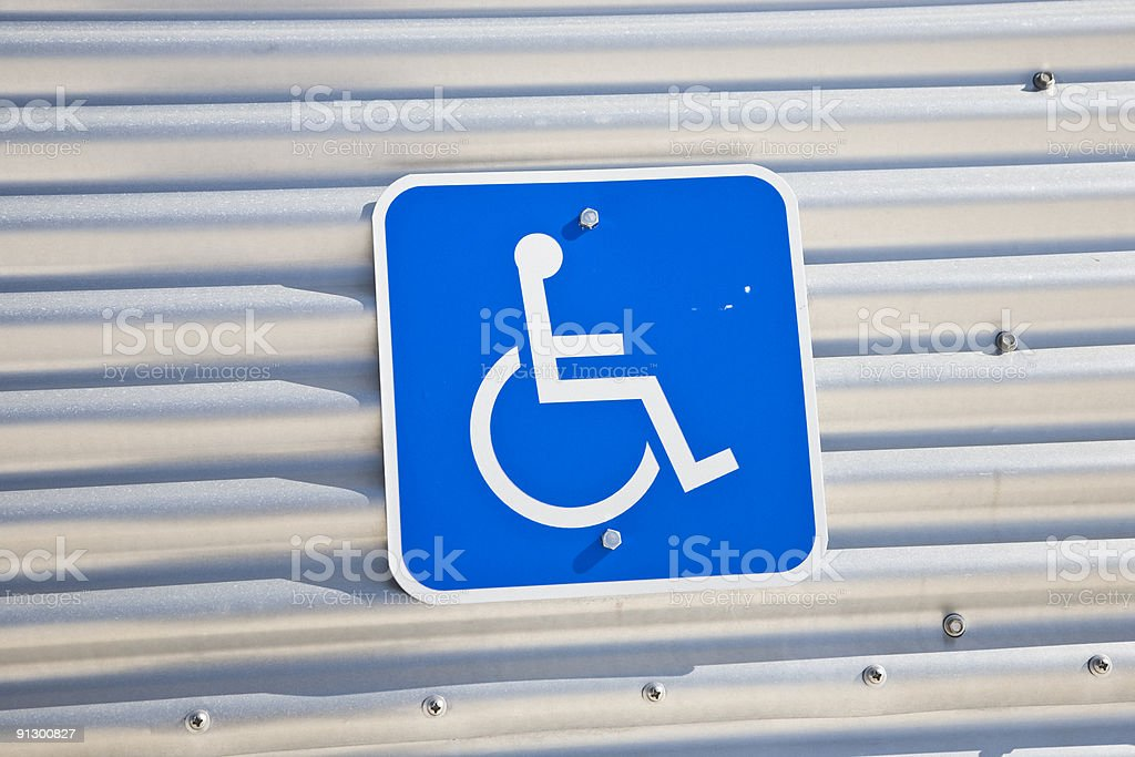 Reserved for Handicapped sign royalty-free stock photo