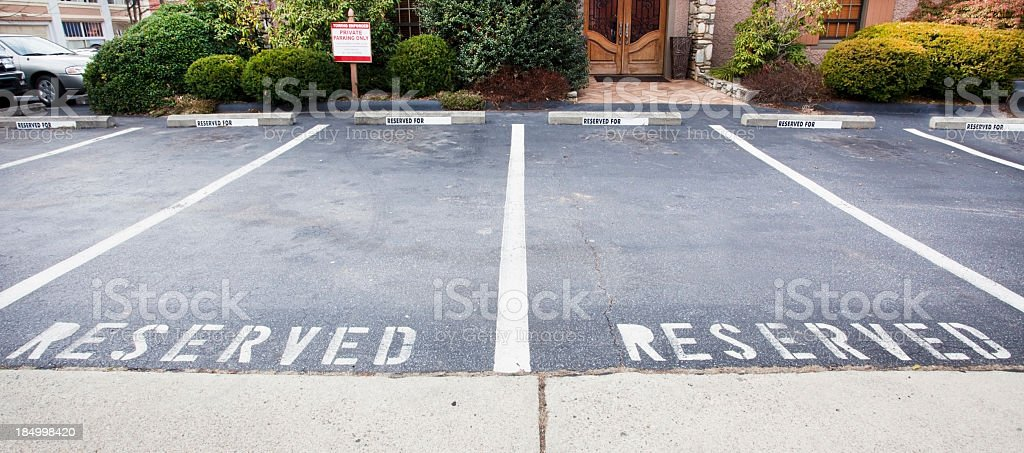 Reserved Lot stock photo