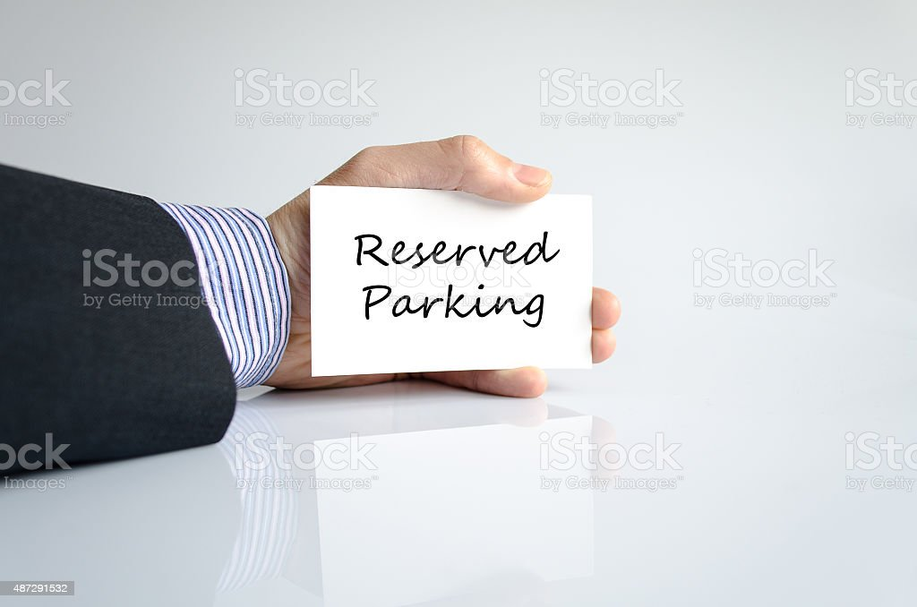 Reserved parking Hand Concept stock photo