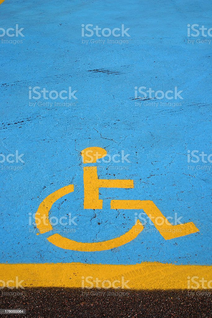 Reserved Parking royalty-free stock photo