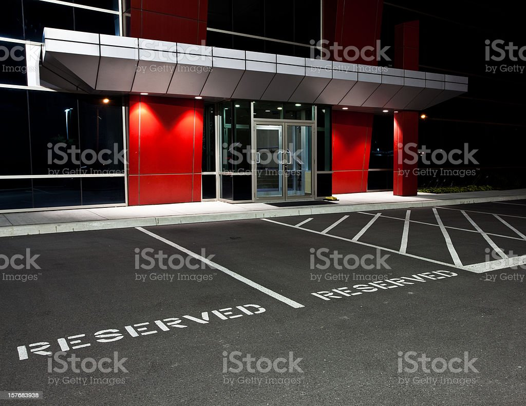 Reserved Parking Spaces stock photo