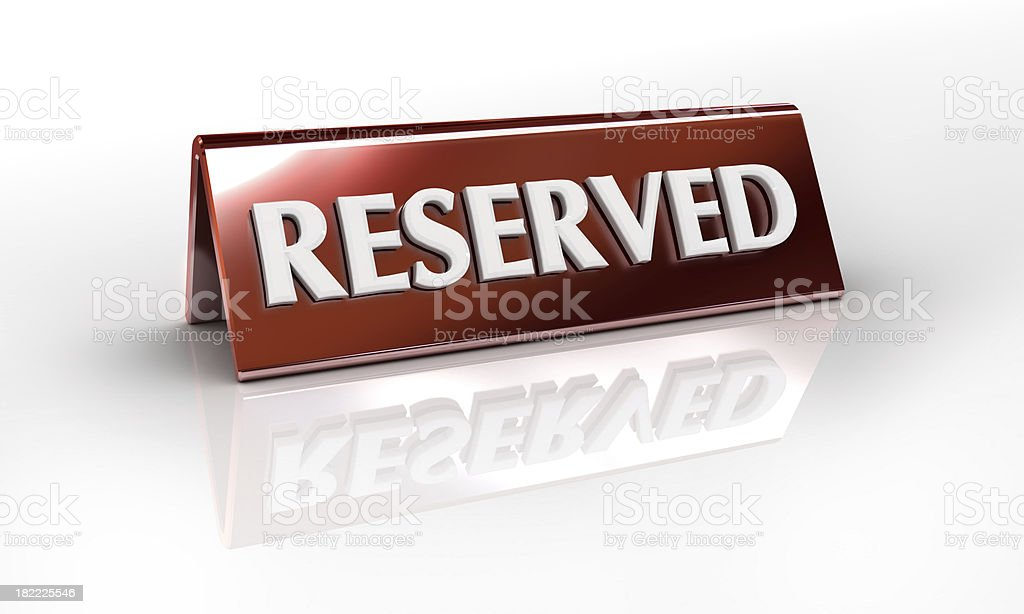 reserved sign stock photo