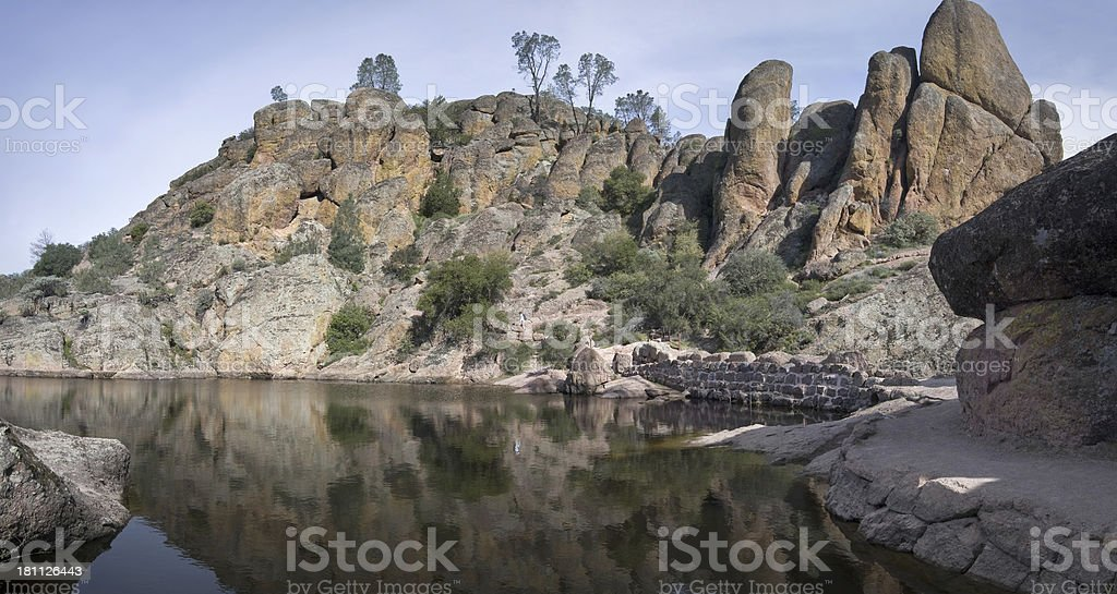 Reservoir and rocks royalty-free stock photo