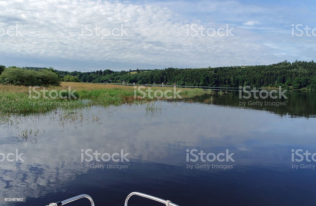 Stausee Bleilochtalsperre Deutschland stock photo