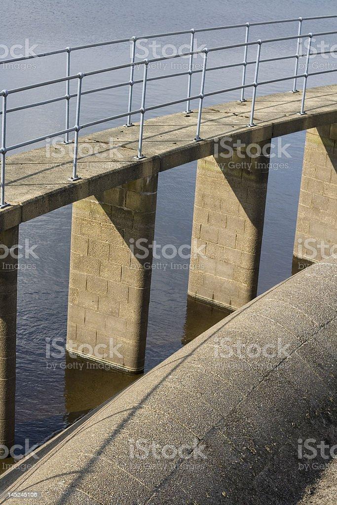 Reservoir details water and brickwork stock photo