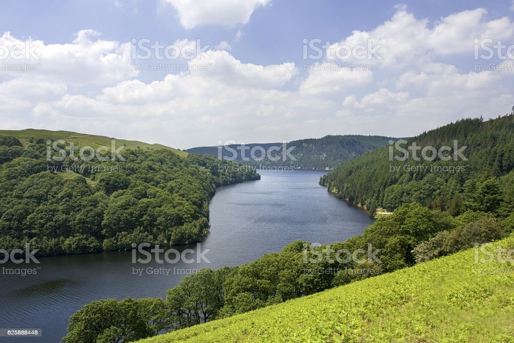 reservoir elan valley wales stock photo
