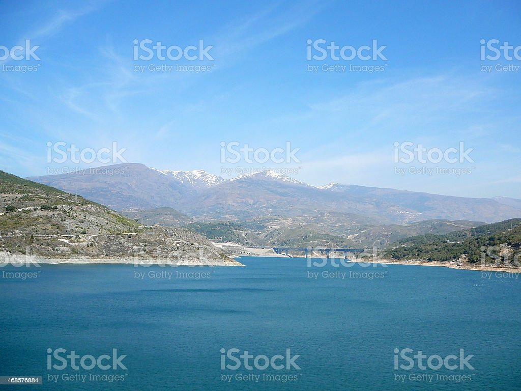 Reservoir in Alpujarra Region, Andalucia stock photo