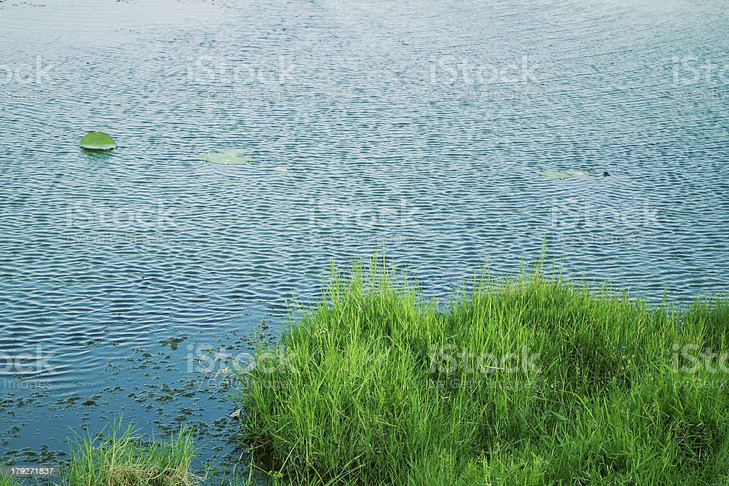 reservoir in thailand royalty-free stock photo