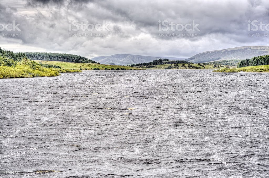 Reservoir in the Yorkshire Dales, England, UK stock photo