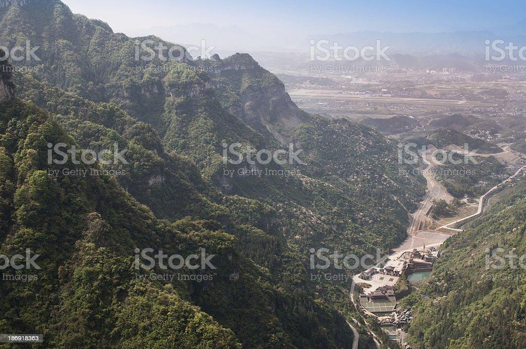 Reservoir mountain stock photo