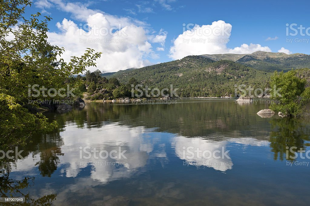 Reservoir of El Burguillo royalty-free stock photo
