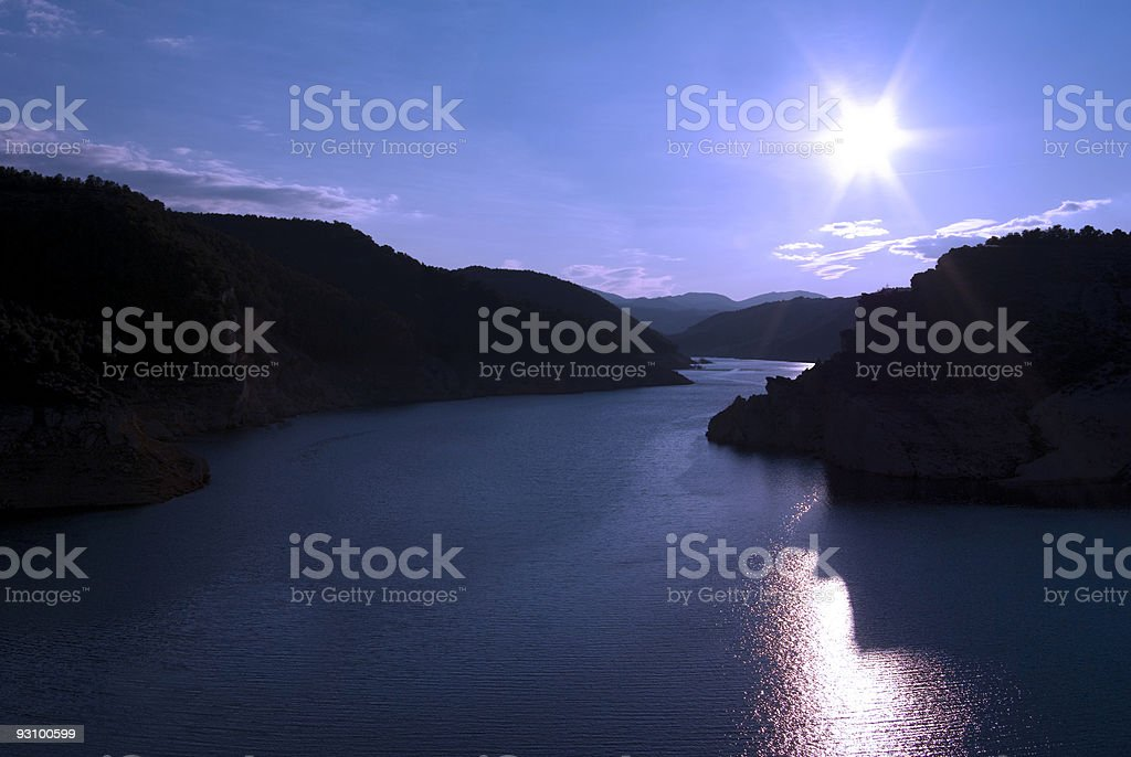 Reservoir of Francisco Abell?n. royalty-free stock photo