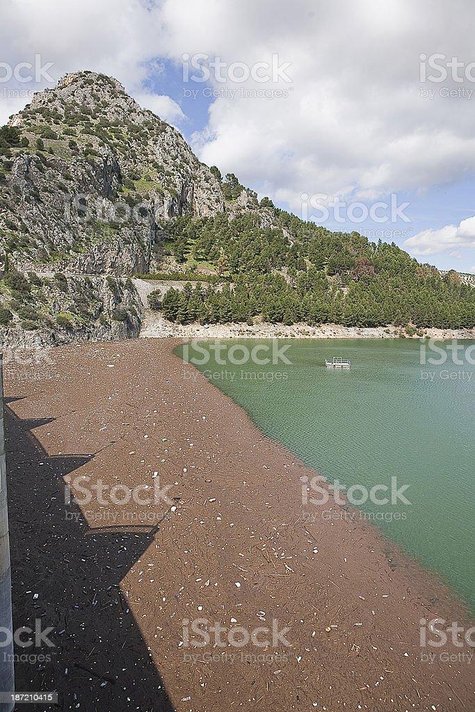 Reservoir of Iznajar, Cordoba province, Spain royalty-free stock photo