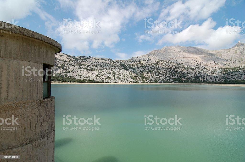 Reservoir on Mallorca stock photo