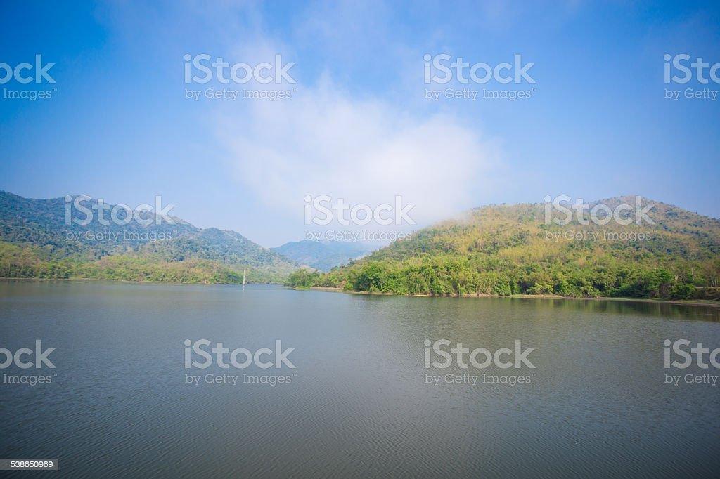 reservoir PA la-u Prachuap Khiri Khan, thailand stock photo