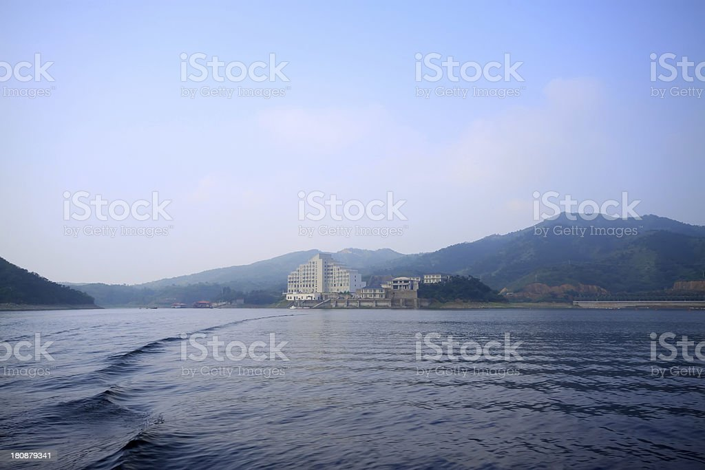 reservoir scenery royalty-free stock photo