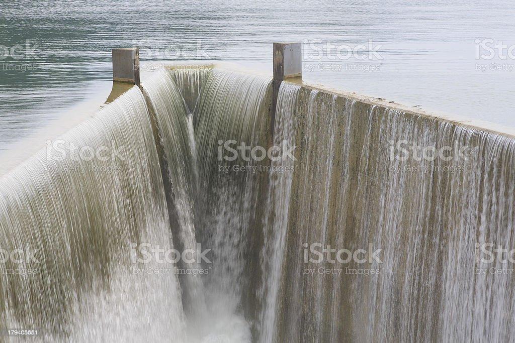 Reservoir spillway royalty-free stock photo