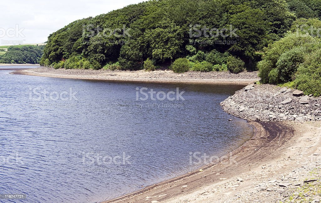 Reservoir Water Levels stock photo