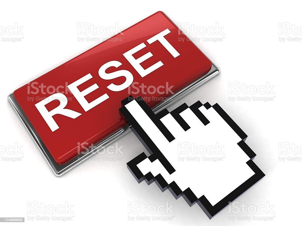 Reset Button stock photo