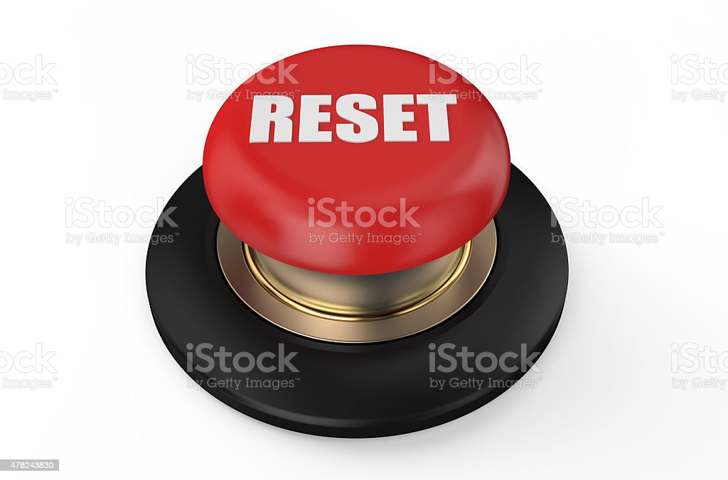 reset red button stock photo