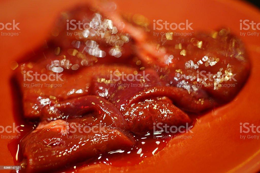 resh liver stock photo