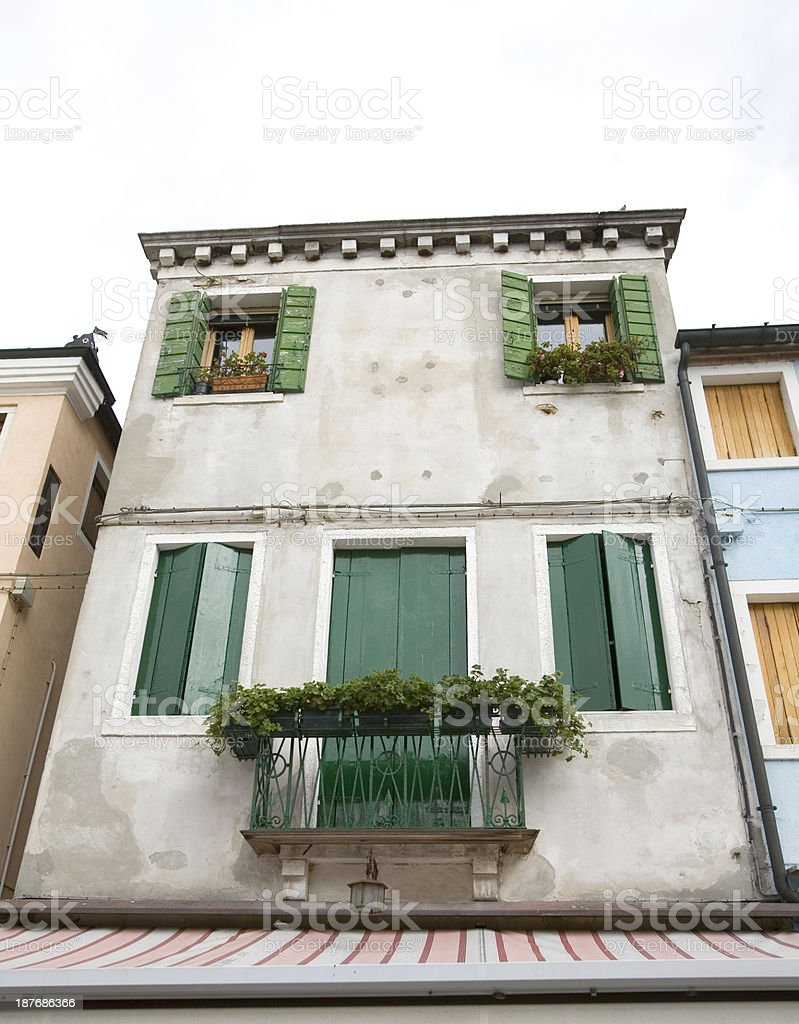 Residence above Shop in Venice Italy royalty-free stock photo
