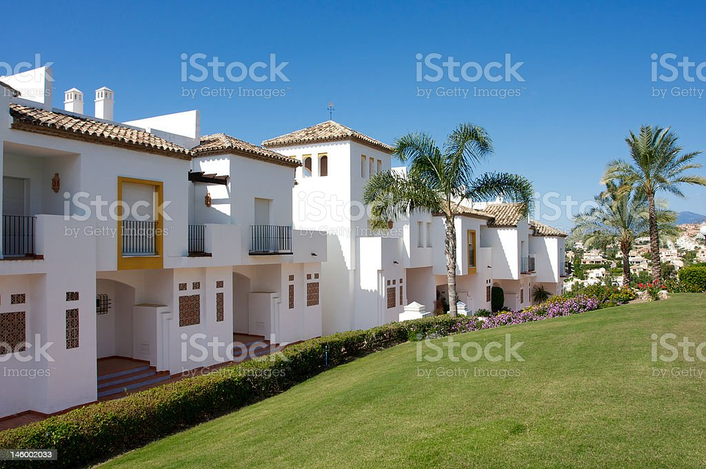 Residence in Puerto Banus - Marbella royalty-free stock photo