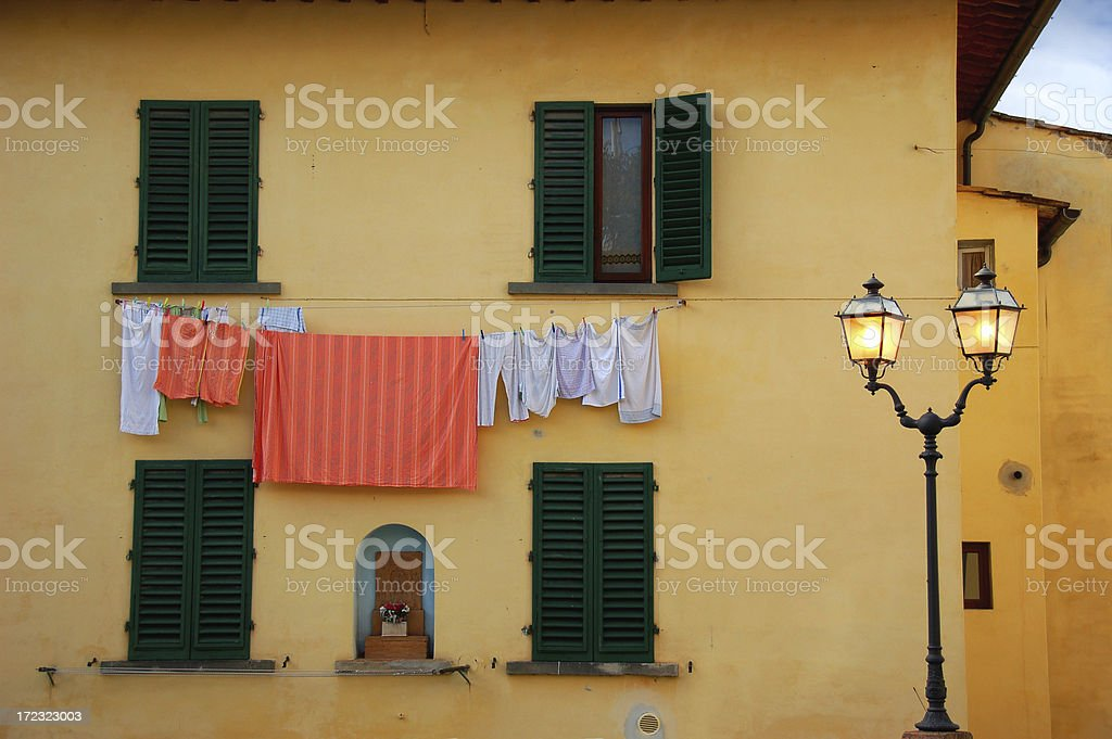 residence in tuscany royalty-free stock photo