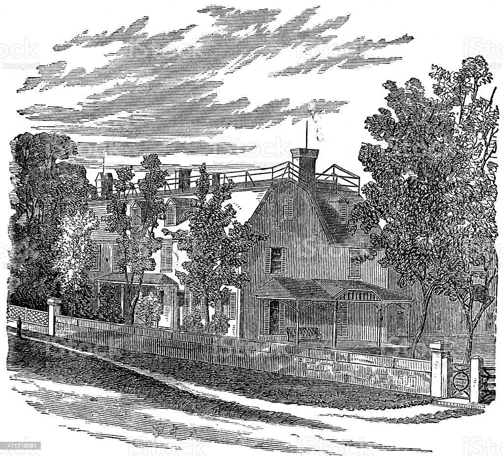Residence of John Adams royalty-free stock photo