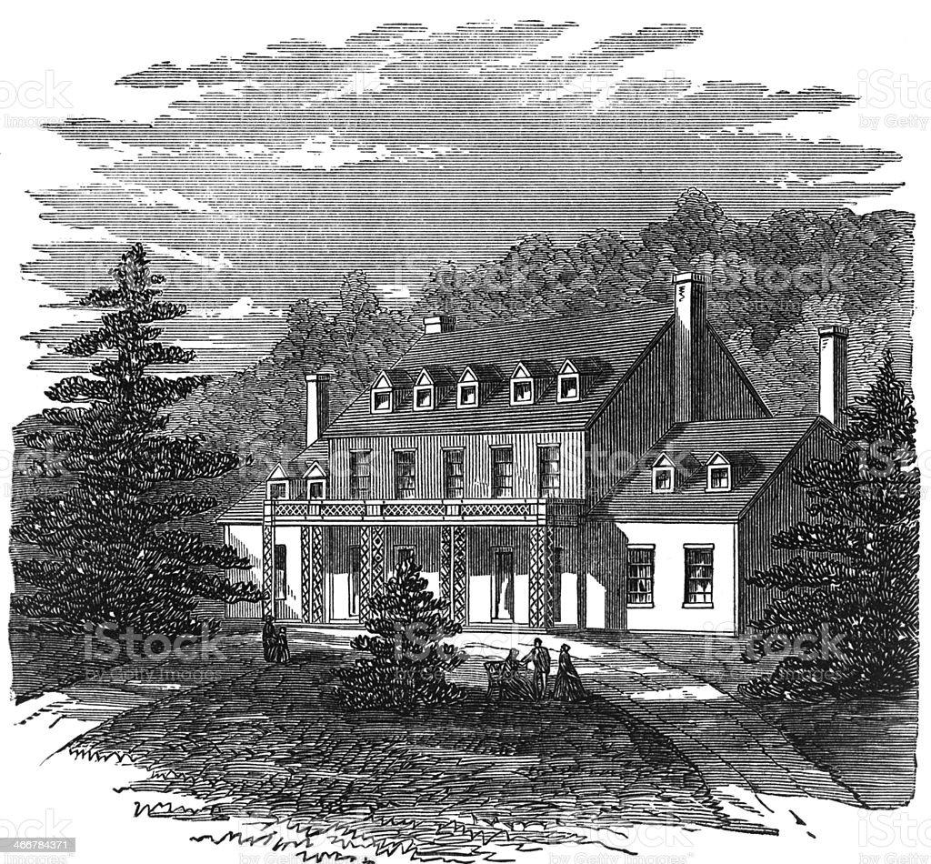 Residence of John Tyler royalty-free stock photo
