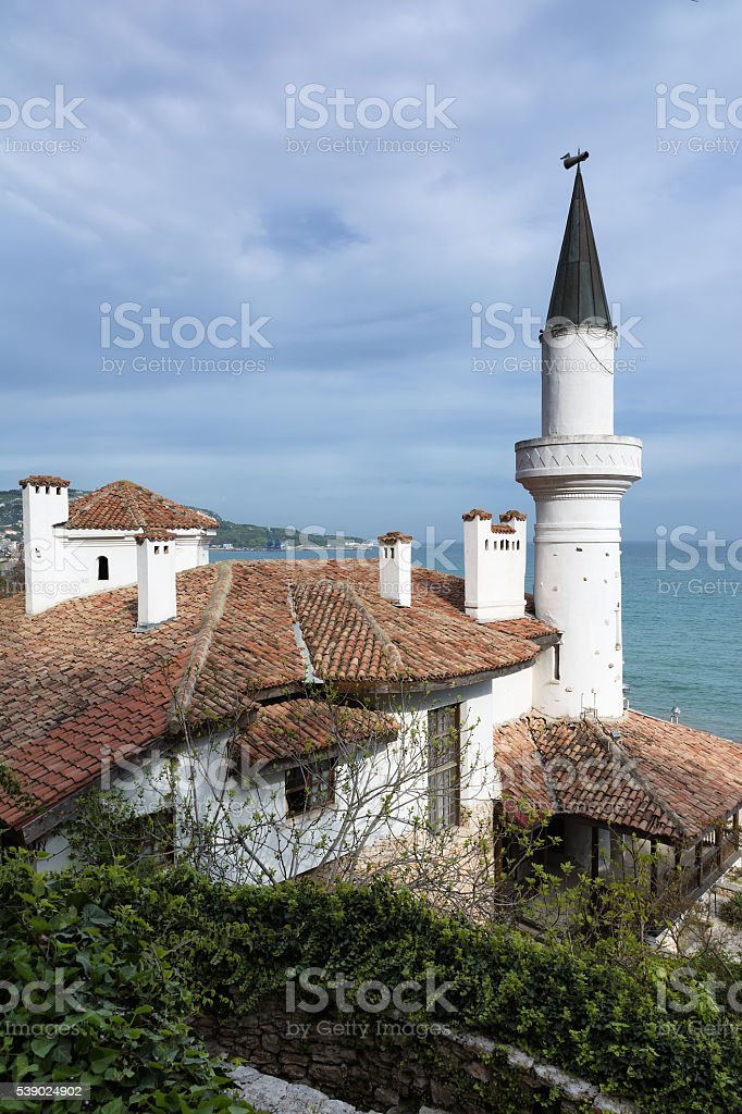 Residence of the Romanian queen in Balchik, Bulgaria stock photo