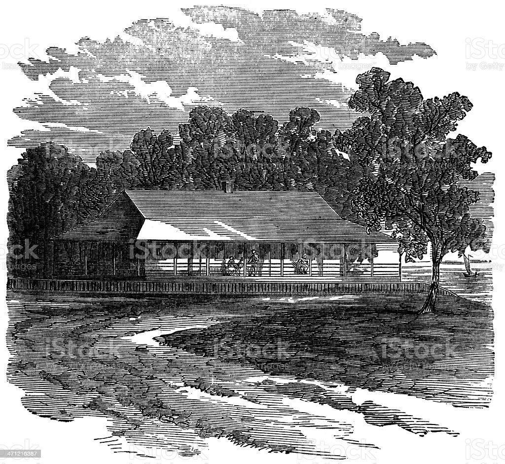 Residence of Zachary Taylor stock photo