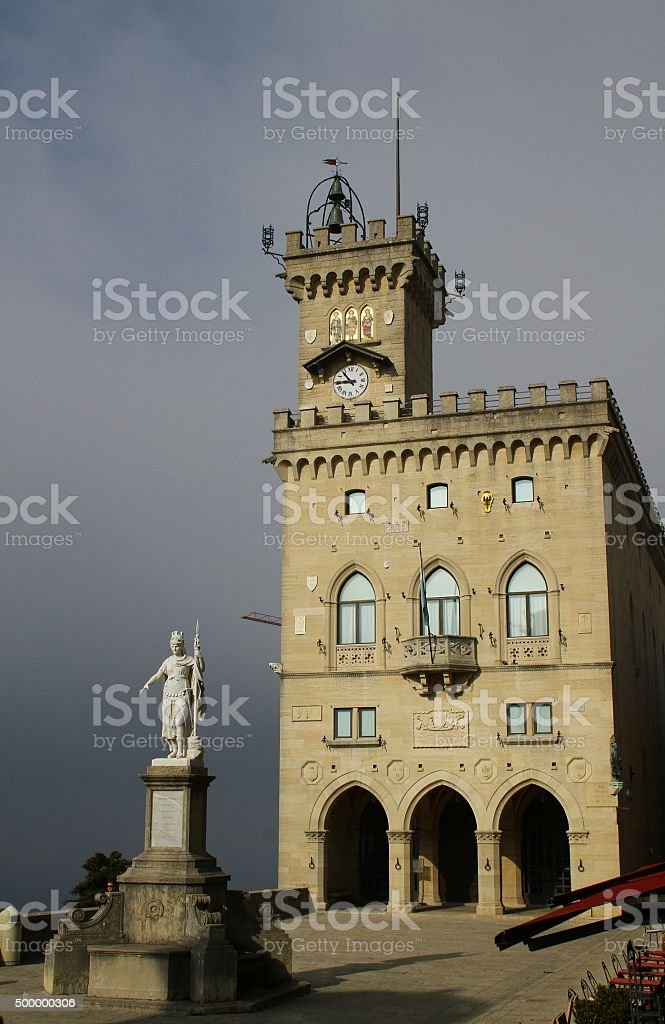 Residence San Marino Parliament - People's Palace. San Marino stock photo