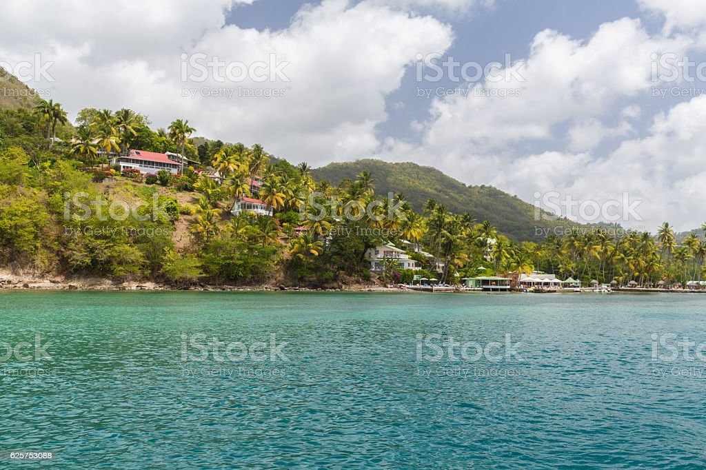 Residences off St Lucia stock photo