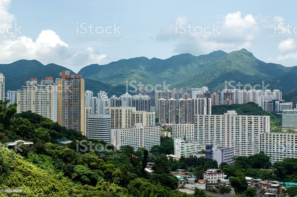 Resident Area in Hong Kong stock photo