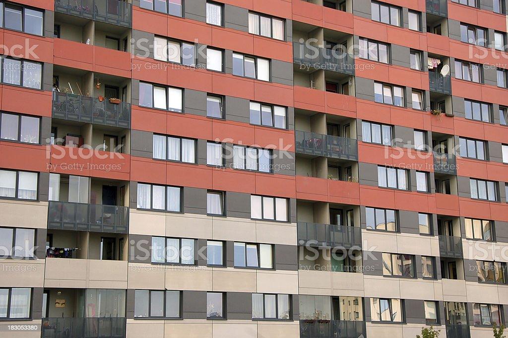 Residentail district, plattenbau building royalty-free stock photo