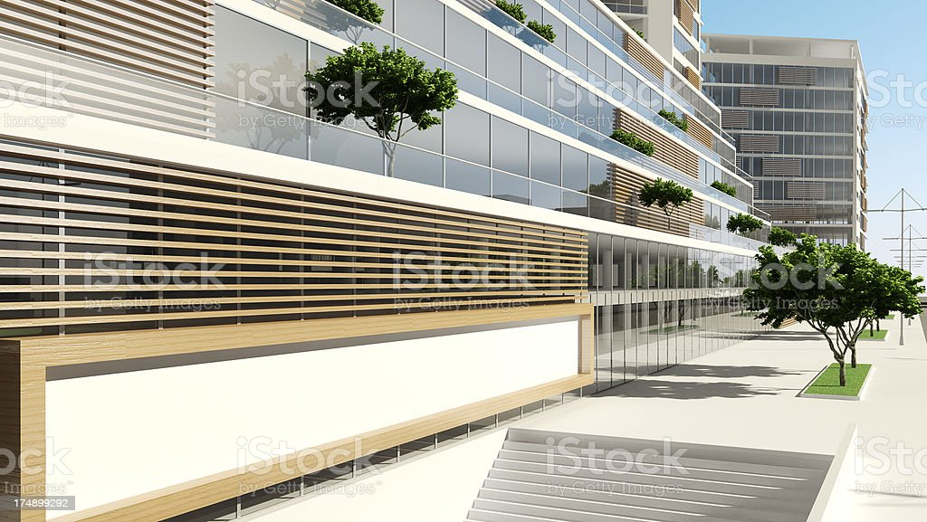 residential and office building development city 3d render architecture abstract royalty abstract 3d office building
