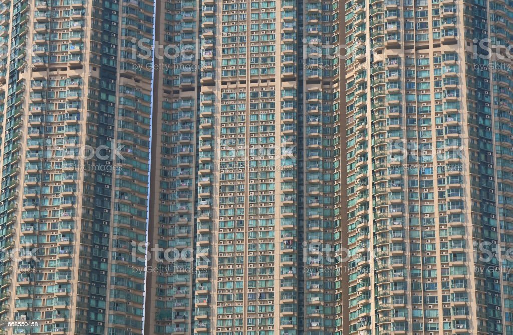 Residential apartment building Hong Kong stock photo