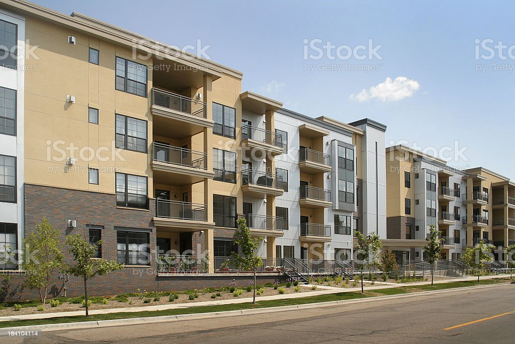 Residential Apartment Building in Real Estate Housing and Construction Industry royalty-free stock photo
