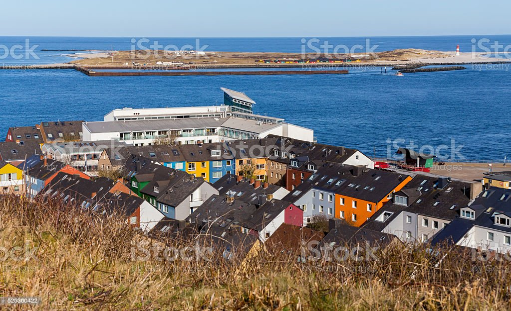 Residential area in Heligoland stock photo