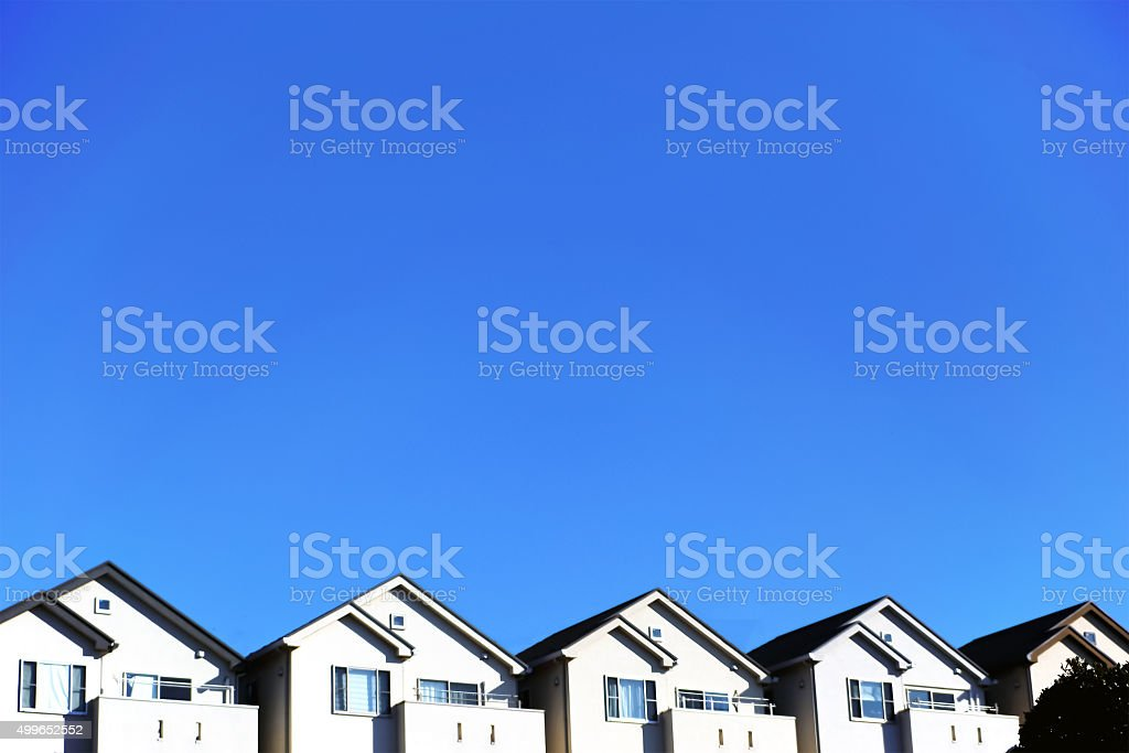 Residential area of Japan stock photo