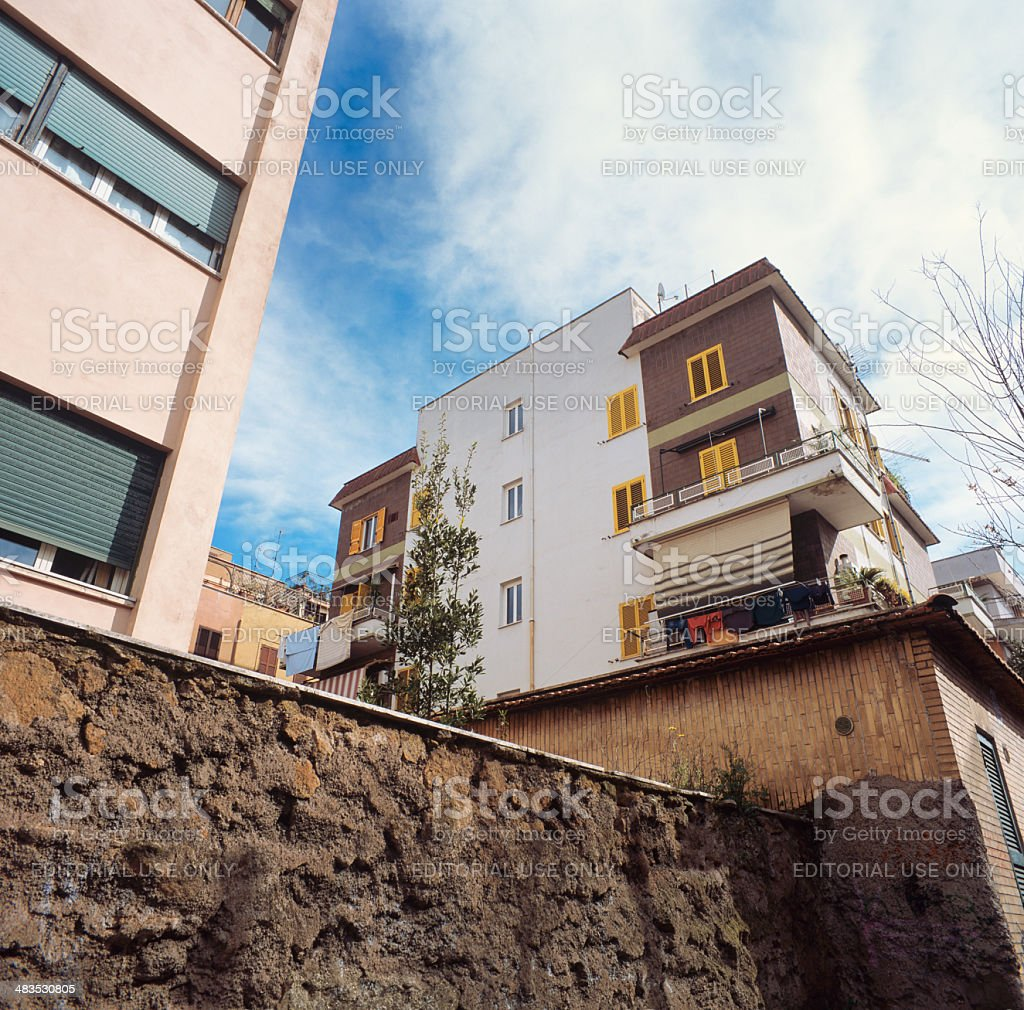 Residential area of Rome royalty-free stock photo