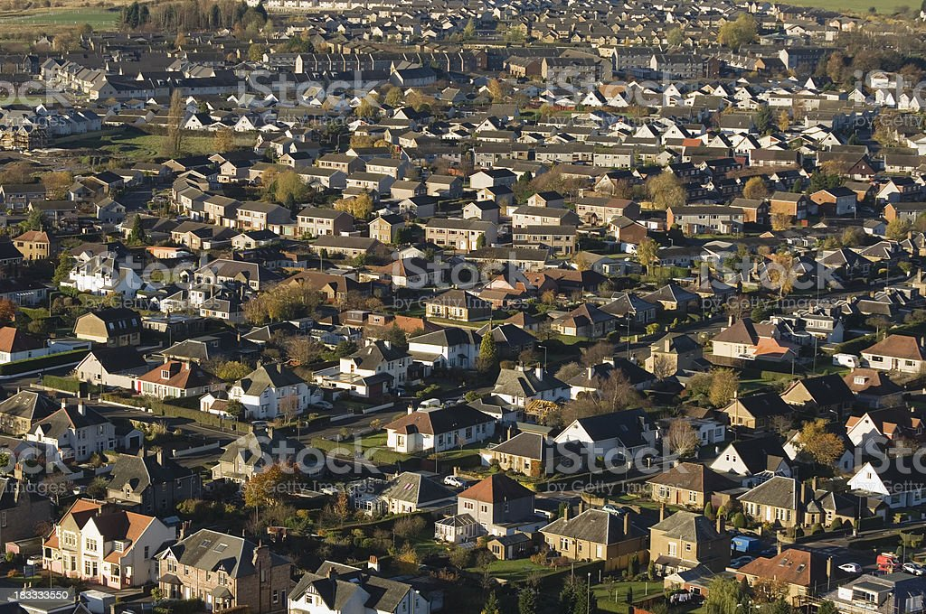 Residential area of Stirling, Scotland stock photo