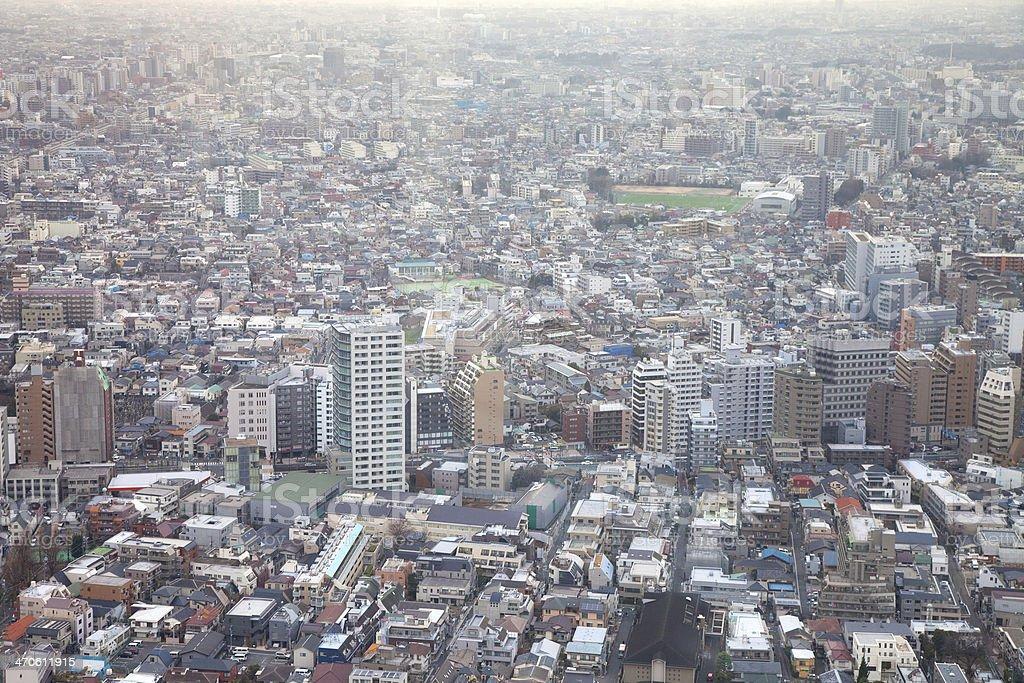 Zona residencial de la ciudad de Tokio en Japón foto de stock libre de derechos