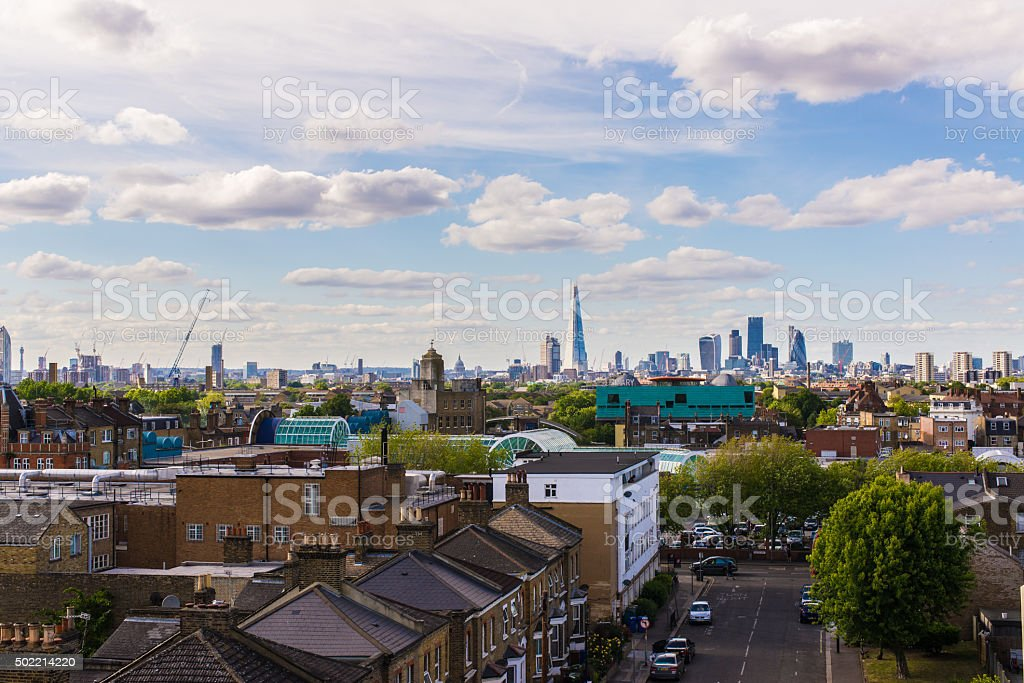 Residential area with flats in south London stock photo