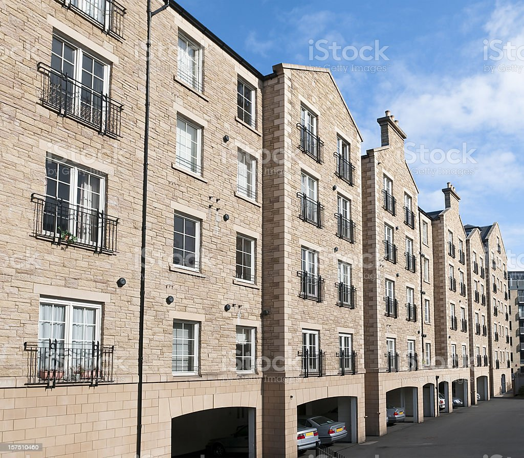 Residential block of flats royalty-free stock photo
