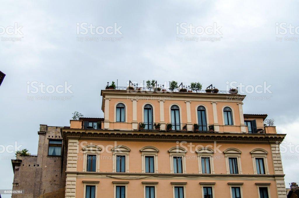 Residential buiding stock photo