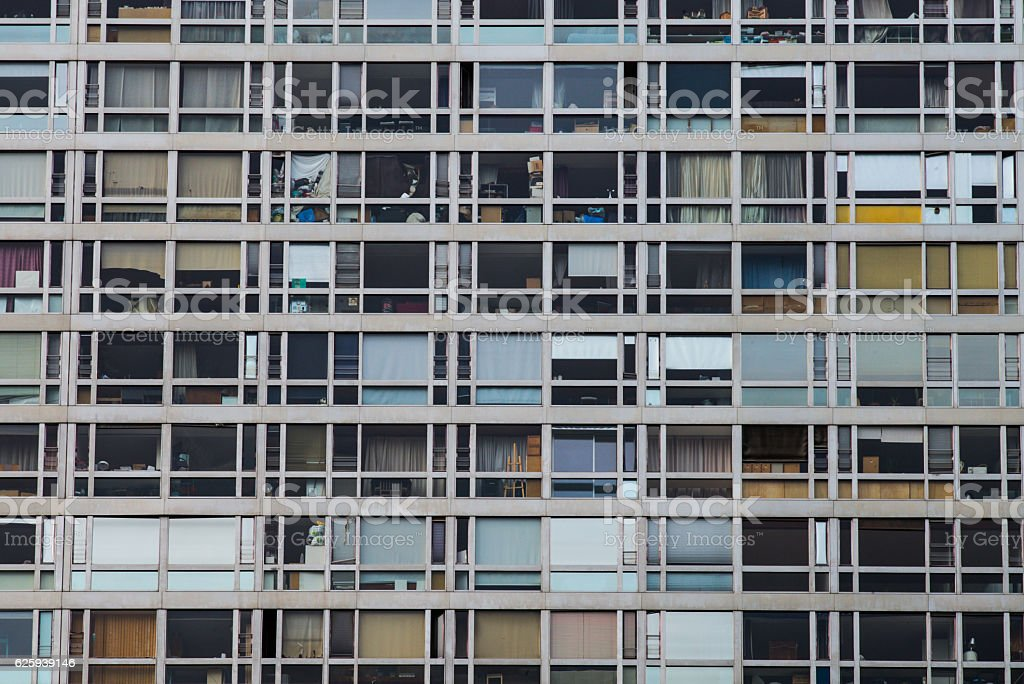 Residential building façade stock photo