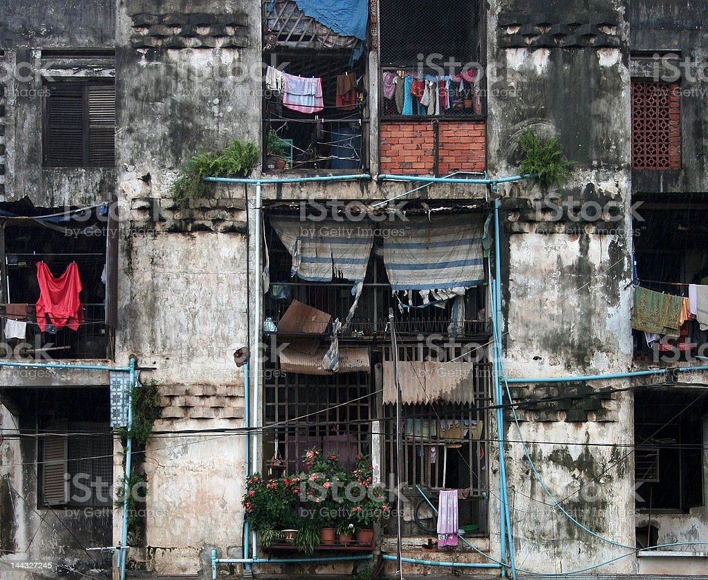 Residential building in Phnom Penh royalty-free stock photo